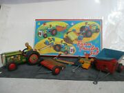 Vintage Modern Toys Farm Tractor Set - New In Box