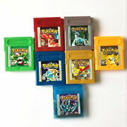 Pokemon Crystal Gold Red Blue Green Yellow Silver Gb Gbc Gba Gameboy Game Card