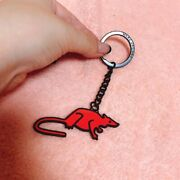 Marc Jacobs Key Ring Key Chain Mouse Motif Almost Unused Red F/s From Japan
