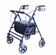 Bariatric Rollator, 500 Lb. Weight Capacity, Flip-up Padded Seat, 66550