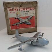 Dinky Toys 701 Shetland Flying Boat Airplane 1947-49 With Box