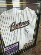Houston Astros Six Pitch No Hitter Against The Yankees Signed Jersey - 3 Coas