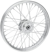 Drag Specialties Front Laced Wheel - Single/dual-disc - 21in. X 2.15in. - Chrome