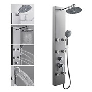 Rovogo 304 Stainless Steel Shower Panels Tower System, 8-inch Rainfall Shower +