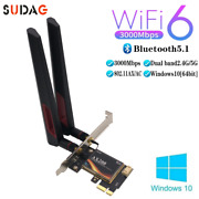 Ax200 3000mbps Wifi 6 Wireless Pcie Adapter Bt 5.1 2.4g/5ghz Pci Network Card