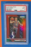 2018-19 Panini Prizm Trae Young Red Rc /299 - Psa 9