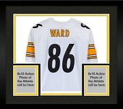 Frmd Hines Ward Steelers Signed White Sb Xl Patch Replica Jersey And Inscs - Le 10