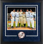 Ny Yankees Framed Signed 8x10 Perfect Pitchers/catchers Photo W/ Multiple Inscs