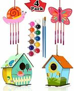 Home Composer 4 Pack Diy Bird House Wind Chime Kits For Children To Build And...