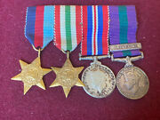 Ww2 British Miniature Medals With Palestine Medal