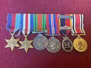 Ww2 British Miniature Medals With Territorial And Special Constabulary medal