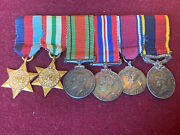 Ww2 British Miniature Medals With Territorial Medal