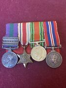 Ww2 British Miniature Medals With Palestine Medal With 3 Bars Near East Malaya