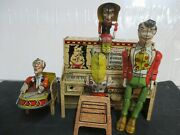 Unique Art 1945 Li'l Abner And His Dogpatch Band Wind Up Toy - Working