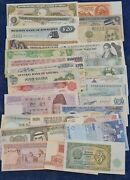 40 X World Bank Notes All Different Italy/usa/china/france V/good-good Condition