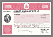 Anheuser-busch Companies Inc Common Stock 2003 With Adolphus Busch Image