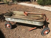 Amf Vintage Metal Roadmaster Viii Pull Wagon 1960s Made In The Usa