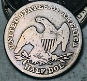 1838 Capped Bust Half Dollar 50c Ungraded Reeded Edge Good Us Silver Coin Cc7707