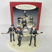 Hallmark The Beatles Gift Set 5 Ornaments Microphones Stage And Drums 1994