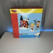 Dept 56 Peanuts Snoopy A Very Snoopy Christmas Lighted 3 Piece Set New