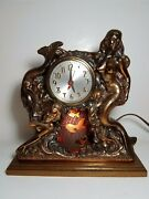 Vintage 1950and039s Dodge Inc Mermaid Motion Lamp Sessions Clock