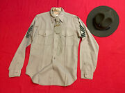 Vintage Us Marine Corps Drill Instructor Hat Shirt Tie And Tie Bar