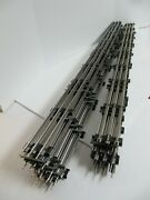 Lionel 6-65523 O Gauge Track Lot 14 40 Straight Track Sections 9 Very Good