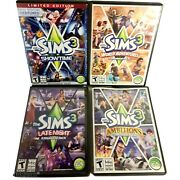 Lot Of 9 Sims Pc Games - Sims 2 And 3 And Expansion Packs For Pc Games Sims