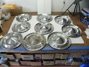 1955 Chevrolet Chevy Vintage 15-inch Chrome Hubcap Wheel Covers Sold As Lot Of 9