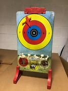 Vintage Tin Plate Target Shooting Game By Marx Toy Company Hunting Theme
