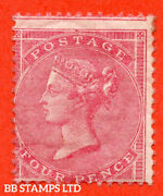 Sg. 66. J51 1. 4d Rose Carmine. A Very Fine Unmounted Mint Example. B53607