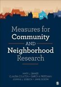 Measures For Community And Neighborhood Research By Mary L. Ohmer 9781483358369