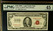Series 1966a 100 Pmg45 Choice Ef, Legal Tender Us Note, Elston/kennedy, 3440
