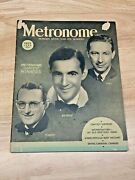 July 1938 Metronome Modern Music And It's Makers Magazine Tommy/benny/hal
