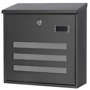 Decaller Wall Mounted Mailboxes With Key Lock Metal Large Mail Box 13 X 13 X