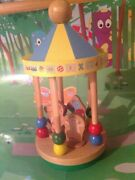 In The Night Garden Spinning Wooden Gazebo/carousel With Figures - Rare