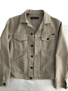 Pre-owned Tom Ford Denim Jacket. Beige. Corduroy. Mint. Size Large. Runs Small