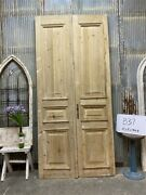 Thick Molding Antique French Double Doors European Doors Tall Pair B37