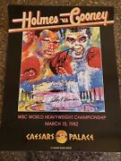 Larry Holmes And Gerry Cooney Signed Boxing Poster