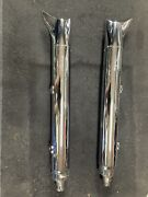 Nice Oem And03914-18 Indian Chieftain Springfield Fishtail Exhaust Mufflers Oem Used