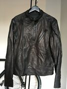 Givenchy Multi Zip Biker Leather Jacket Chocolate Brown Size S