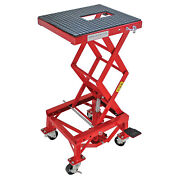 Extreme Max Hydraulic Motorcycle Lift Table With 300 Lb. Capacity For Parts