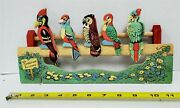 Vintage 1940and039s The Five Wise Birds Target Shooting Gallery Game Antique Toy Owl