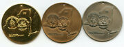 New York 1959 Year Of History 3-medal Set Bastian Bros Rochester Brothers Bh221
