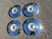 1955 1956 Ford Dog Dish Poverty Hubcaps Set Of 4 Fairlane