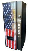 Dixie Narco 276e Soda Vending Machine Cans And Bottle Flag Graphic Free Shipping