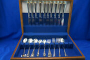 Oneida Golden Juilliard 39 Pcs Knives Dinner And Salad Forks Tea And Tablespoons