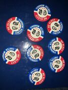 Jimmy Carter Walter Mondale Re-elect Campaign Political Pinback Button Lot Of 9