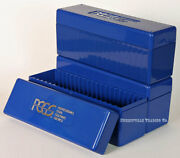 Lot Of 3 Pcgs Original Blue Storage Boxes - Each Stores 20 Graded Slabbed Coins