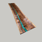 Wooden Acacia Handmade Custom Big Conference Table Top River Dining Room Decors